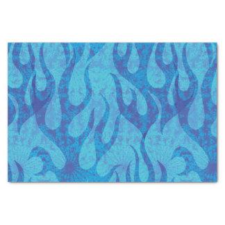 Blue Flames Fractal Tissue Paper