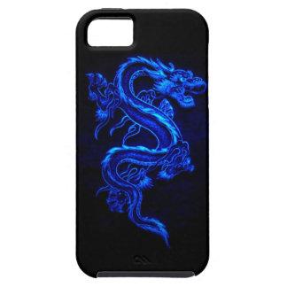 blue flaming dragon design tough iPhone 5 case