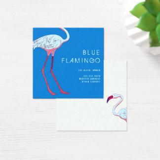 Blue Flamingo Square Business Cards