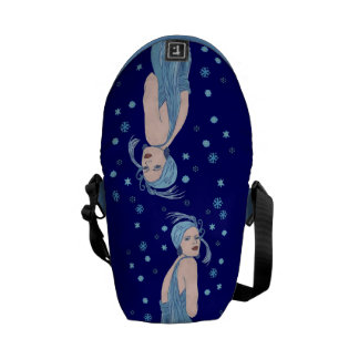 Blue Flapper Christmas Courier Bags