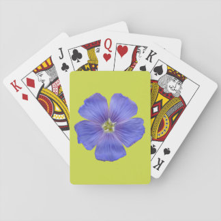 Blue Flax #1 Playing Cards