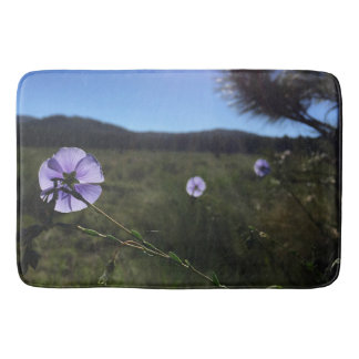 Blue Flax Flowers Photograph Bath Mat