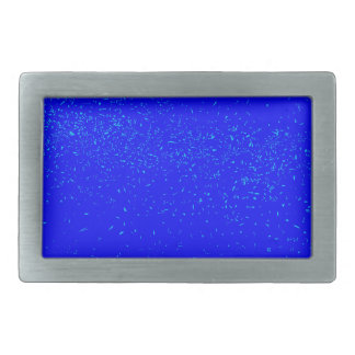 Blue Fleck Background Rectangular Belt Buckles