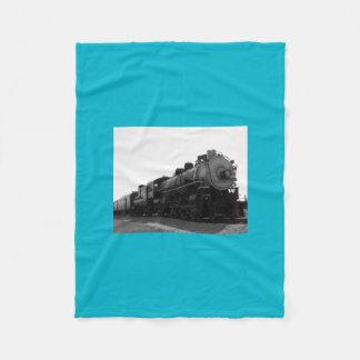 Blue Fleece Blanket Steam Engine