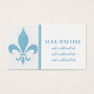 Blue Fleur De Lis Business Card