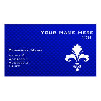 Blue Fleur de lis Business Card Templates