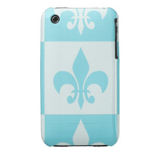 Blue Fleur de lis iPhone 3 Covers