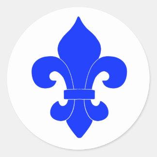 Blue Fleur de Lis Design Sticker
