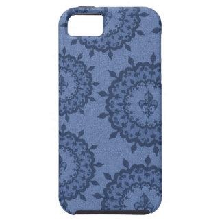 Blue Fleur De Lis iPhone 5 Cases