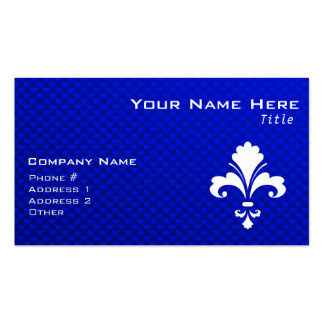 Blue Fleur de lis Pack Of Standard Business Cards