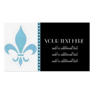 Blue Fleur De Lis Pack Of Standard Business Cards