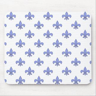 Blue Fleur-de-lis Pattern Mousepad