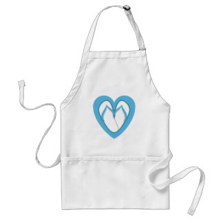 Blue flip flop design standard apron