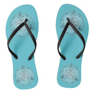 Blue Flip Flops, Mandala Flip Flops