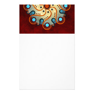 Blue Floral Abstract Vector Art Stationery