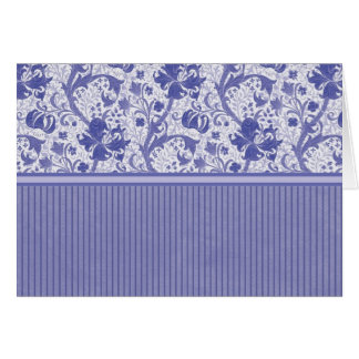 Blue Floral and Stripe Cards and Postage