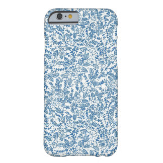 Blue Floral Barely There iPhone 6 Case