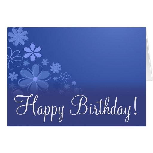 "Blue Floral ""Birthday Card"""