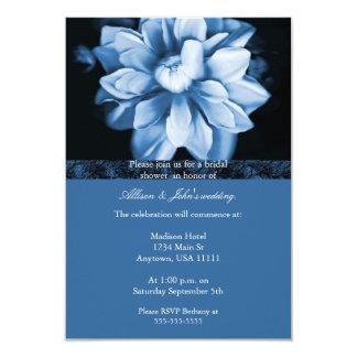 Blue Floral Bloom Bridal Shower Invitation