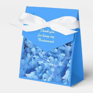 Blue Floral Bridesmaid Thank You Favour Box