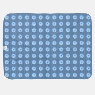 Blue-Floral-Country-Baby-Blankets-Unisex Baby Blanket