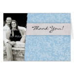 Blue Floral Custom Thank You Cards