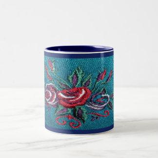 Blue Floral Decorative Mug