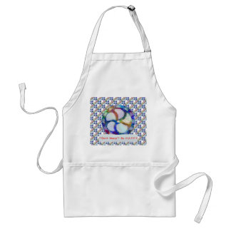 Blue Floral DREAM : Editable Text replace Greeting Standard Apron