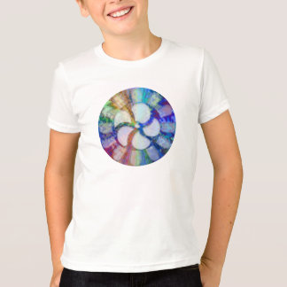Blue Floral DREAM : Editable Text replace Greeting T-Shirt