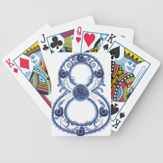Blue Floral Eight2 Bicycle Playing Cards