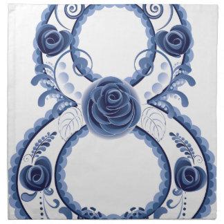 Blue Floral Eight2 Napkin