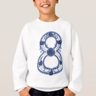 Blue Floral Eight2 Sweatshirt