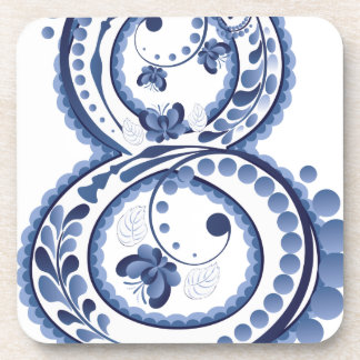 Blue Floral Eight3 Coaster