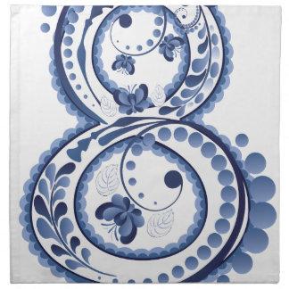 Blue Floral Eight3 Napkin