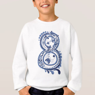 Blue Floral Eight3 Sweatshirt