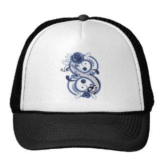 Blue Floral Eight Cap