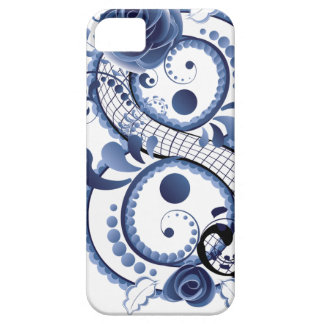 Blue Floral Eight Case For The iPhone 5