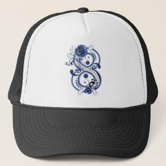 Blue Floral Eight Trucker Hat
