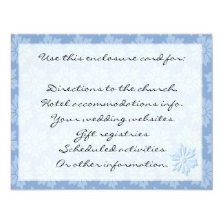 Blue Floral Enclosure Card 11 Cm X 14 Cm Invitation Card