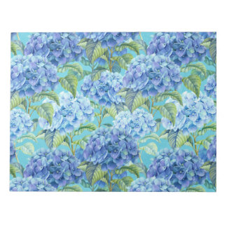 Blue floral Hydrangea Flower pattern Notepad