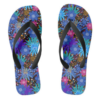 Blue Floral Pattern | Beautiful Thongs