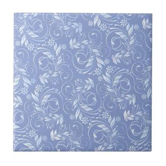 blue floral pattern ceramic tile
