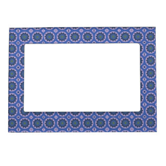 Blue Floral Pattern Magnetic Picture Frame