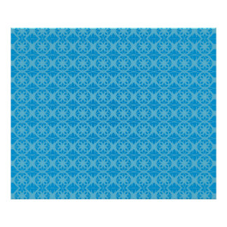 Blue Floral Pattern Posters