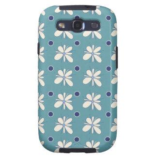 blue floral pattern samsung galaxy case galaxy SIII covers