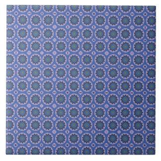Blue Floral Pattern Tile