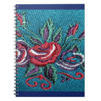 Blue Floral Photo Notebook