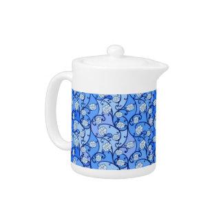 Blue Floral Porcelain Teapot