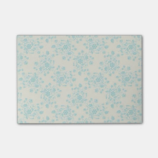 Blue floral post-it notes