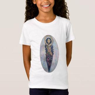 Blue Floral Spiral Goddess T-Shirt